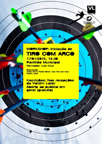 Cartaz Workshop Tiro Arco
